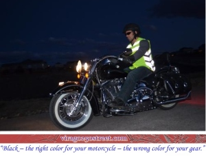 reflective vest - v-twin bike - black