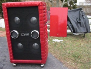 1967 Kustom narrow panel 4x10 w cover and the original back