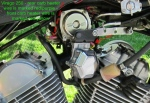 Virago 250 - rear carb heater wire is marked red-purple - front carb heater is red-yellow