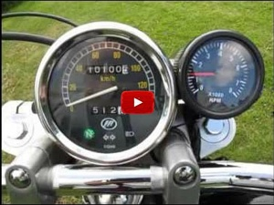 Bobster's Virago 250 with tach