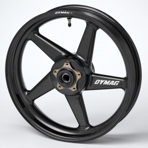 DYMAG Carbon Fiber Race Ultra Lightweight CA5 5 Spoke Motorcycle Wheel--